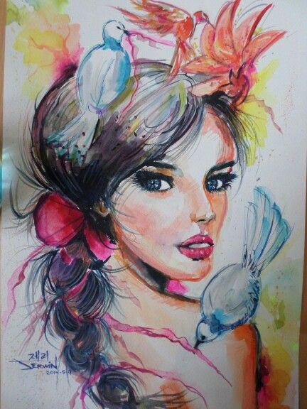 My version of Joanne Young watercolor.
