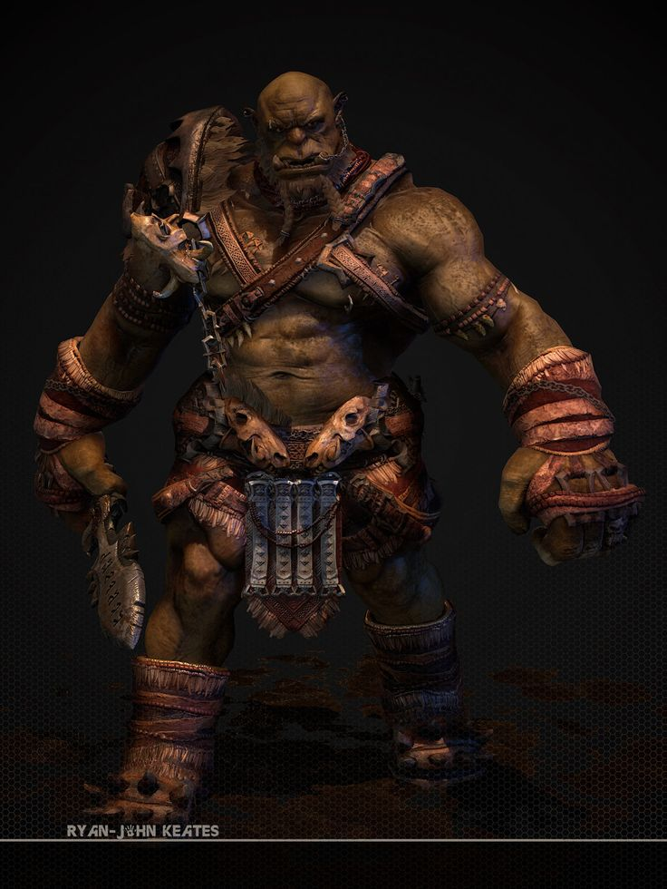 Orc Bruiser, Ryan-John Keates on ArtStation at https://www.artstation.com/artwork/g0V6E