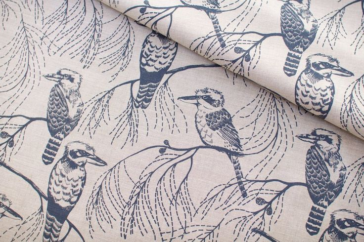 Ink & Spindle Fabric: Kookaburra in Bluestone