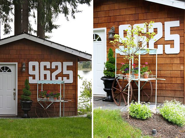 I like the idea of jumbo numbers being a focal point of a little vignette.