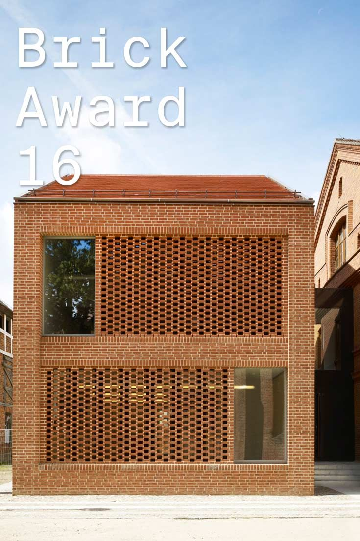 #WienerbergerBrickAward 2016 nominee 8: Kita Kinderland, Germany by kleyer.koblitz.letzel.freivogel.architekten, Germany. The brickwork of the day-care center, specified to match the one originally used and reflect the history of the town, is complemented by red water-struck bricks.  Photographer: Christian Richters