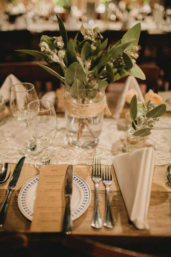 Rustic table setting with Lily of the Valley flowers & 19 best Rustic Table Settings images on Pinterest | Rustic table ...