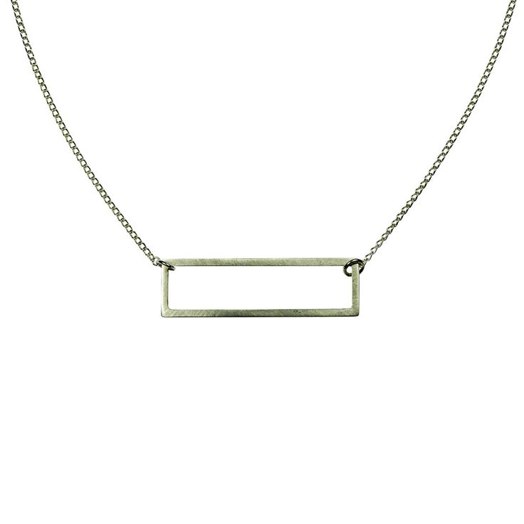 Two-way Rectangle Necklace Silver