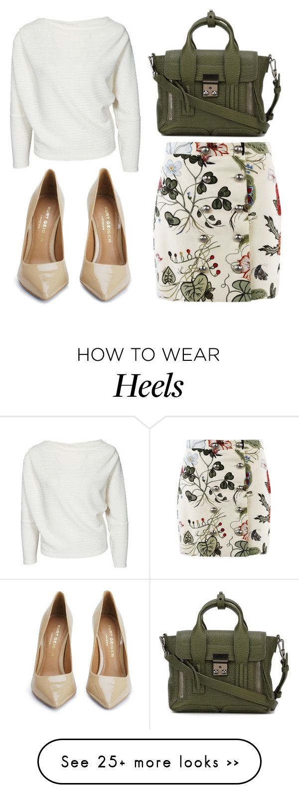 """""""Untitled #2362"""" by fiirework on Polyvore featuring Gucci, 3.1 Phillip Lim and Kurt Geiger"""