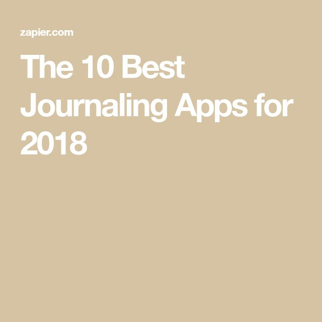 The 10 Best Journaling Apps for 2018