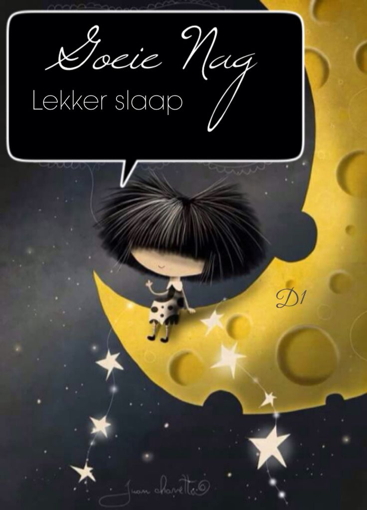 Goeie nag Lekker slaap