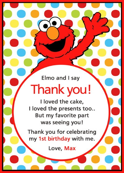 75 best Elmo Party images – Elmo Birthday Card