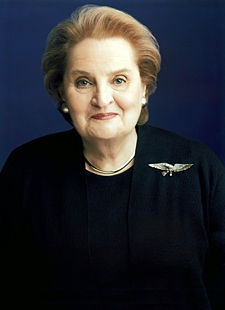 Madeleine Albright - What an amazing (and amazingly smart) lady!  I've already read one biography about her, but am now looking forward to reading the book she wrote about all her pins!  (Read My Pins)