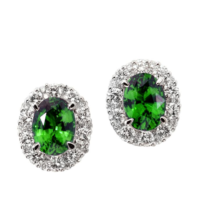Green signifies nature, life, youth, safety and hope. These earrings have it all— plus a halo for good measure.