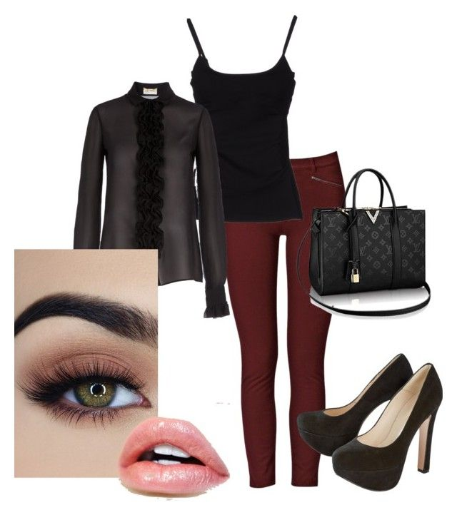 """""""Work to date night. Black heels"""" by mandy-curtis on Polyvore featuring French Connection, D&G and Yves Saint Laurent"""