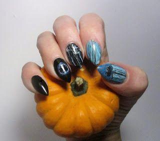Elämän ihastukset ja vihastukset: Kynsiblogit goes halloween-kynnet The Ring-leffast...