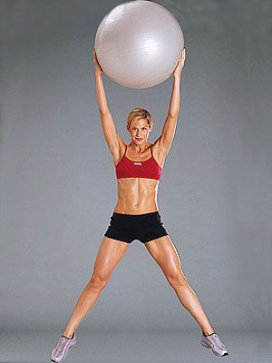 Klutziness and a frugal streak keep me from using much in the way of workout equipment, but a stability ball is my one exception. Once I (literally) stopped rolling off it at the start of each new move, I felt how awesome exercise balls are for developing balance and stability while making it easier to target specific trouble spots. Check out these top moves from the FITNESS video library.