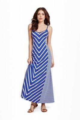 Delanie Striped Maxi Dress | GbyGuess.com