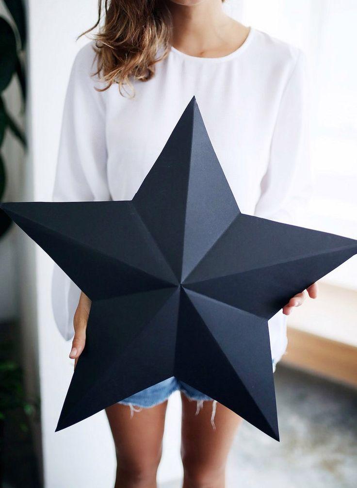 Man kann einer großer Stern als Geschenkverpackung auch einfach selber machen. Schauen Sie mal diese Anleitung und probieren Sie selber! (Diy Decorations Birthday)