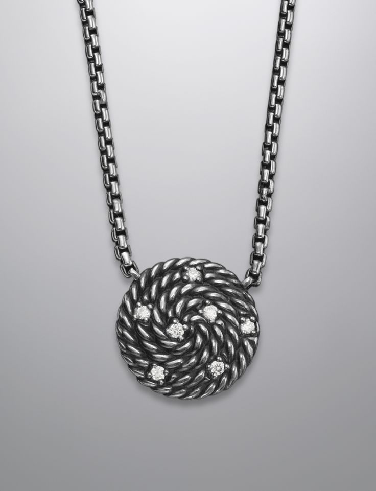 Cable Coil Necklace, Diamonds