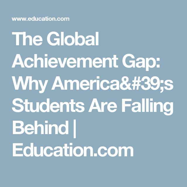 analyzing education gaps why boys fail The costs of inequality: education is the key to it all when there's inequity in learning, it's usually baked into life, harvard analysts say.