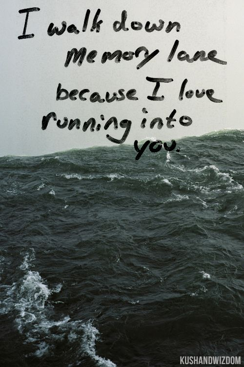 i like running into you