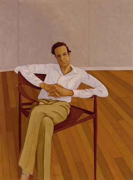 (Cecil) John Brack - Portrait of Ronald Millar - 1970