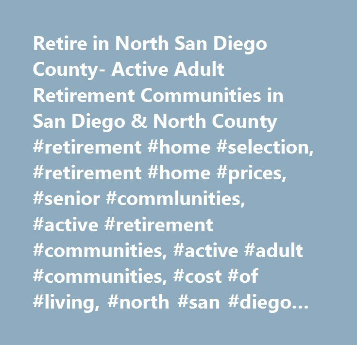 active adult community county diego san