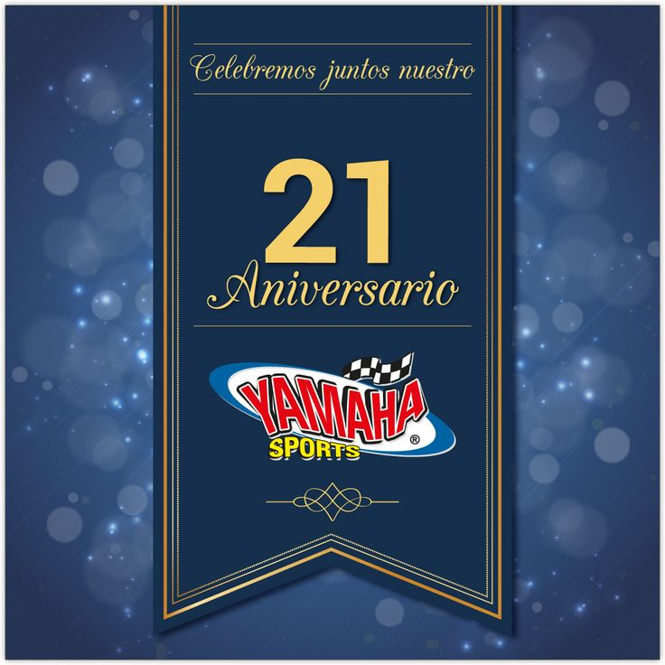 ¡¡Felicitaciones Yamaha Sports!!❤️💙🎉 Ya son 21 años al servicio de Colombia y nos llenamos de emoción al ver nuestro progreso y el de todos nuestros clientes🙏🔝. ¡Feliz, muy feliz vigésimo primer aniversario, equipo!👏🎉