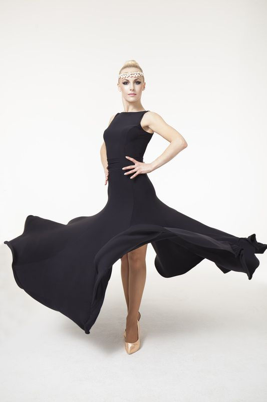 Chrisanne Aura ballroom dress in classic lines, 7 godets