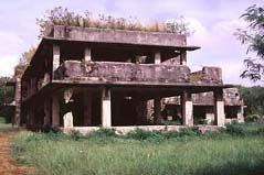 The Japanese Naval Administration building, later utilized by American forces, is one of the World War II era resources remaining on Tinian. Photo courtesy of Tinian Municipal Council. The Battle of Tinian Island was from July 24, 1944 to August 1, 1944 and was considered a necessary island in the Allied Island Hopping Campaign.