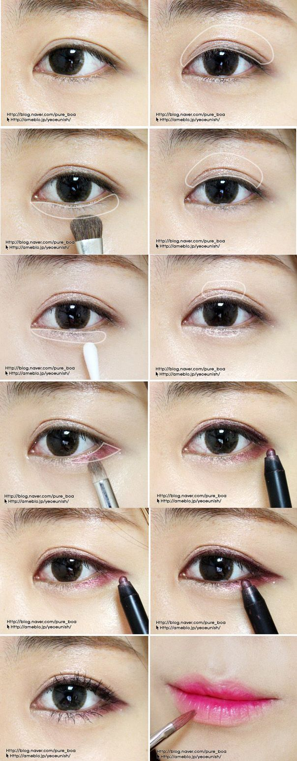 Where to apply highlight #koreanmakeup #koreanmakeuptip