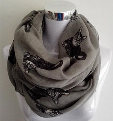 Tabby Cat Womens Scarf