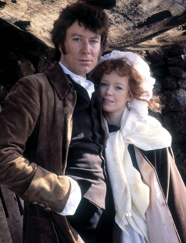 SCOPE FEATURES Robin Ellis as Ross Poldark and Angharad Rees as Demelza Poldark in Poldark