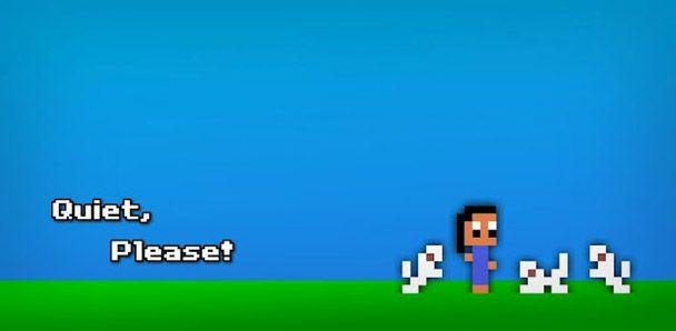 Quiet, Please! Avventura/Puzzle game in stile 8-bit per Android