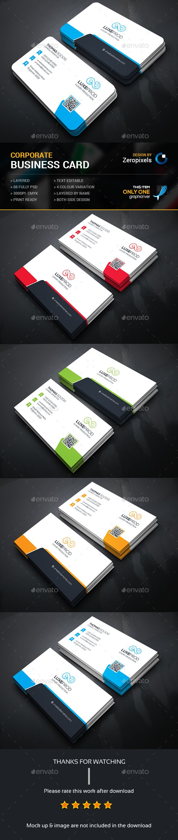 Creative Business Card — Photoshop PSD #pack #green • Available here → https://graphicriver.net/item/creative-business-card/15064047?ref=pxcr