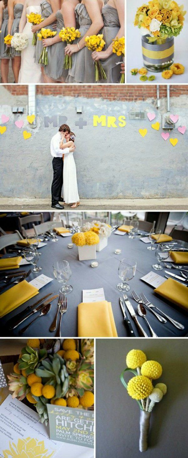 33 best Yellow \u0026 Silver Wedding images on Pinterest | Artificial ...