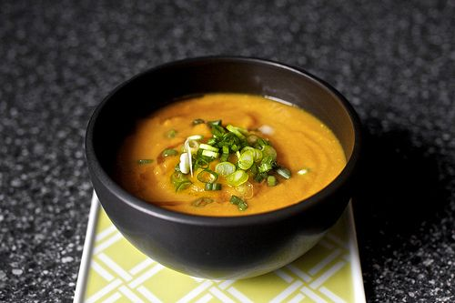 carrot soup with miso and sesame | Eat | Pinterest | Carrot Soup ...