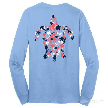 Monogrammed Long Sleeve Nautical Sea Turtle T-Shirt-- can I start my Christmas wish list now??