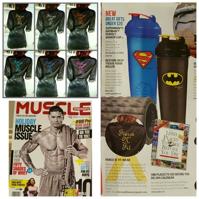 Fierce N Fit Wear Robes for competitors featured in December issue of Muscle Memory Magazine