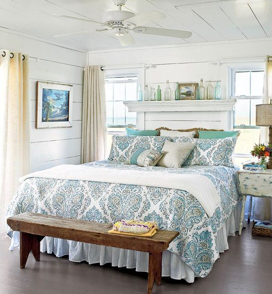 awesome above the bed beach themed decor ideas - Coastal Interior Design Ideas