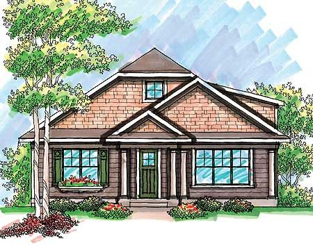 Plan 89716ah Craftsman With Rear Load Garage Craftsman