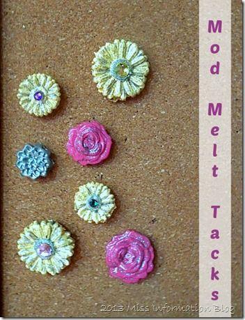 Bulletin Board Pins using Mod Melts so easy to make #modmelts  #crafts