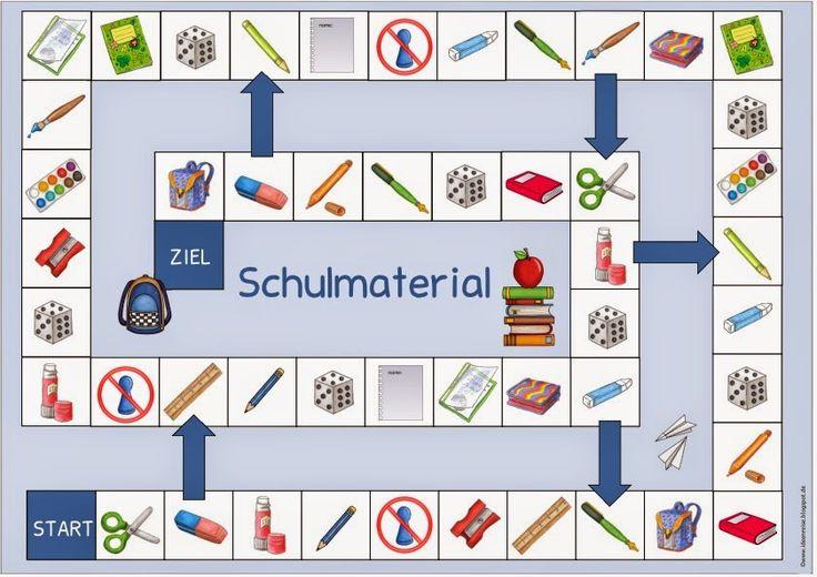 """Ideenreise: Spielfelder """"Farben"""" und """"Schulmaterial"""" für DAZ"""