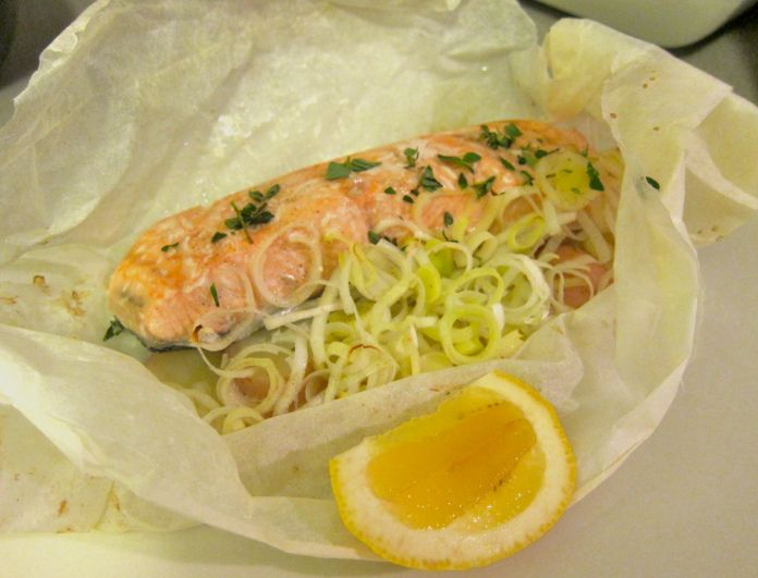 Leek and Potato Salmon