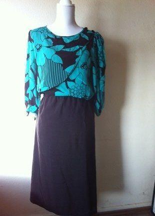Kaufe meinen Artikel bei #Kleiderkreisel http://www.kleiderkreisel.de/damenmode/kurze-kleider/141041646-schones-original-vintage-80er-jahre-kleid-yessica-grun-schwarz-3840