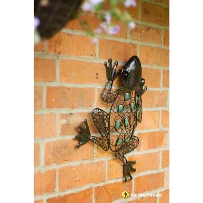La Hacienda 15.7 in. H x 14.9 in. W x 1.7 in. D Brown Glow in the Dark Frog Wall Art-55361X - The Home Depot