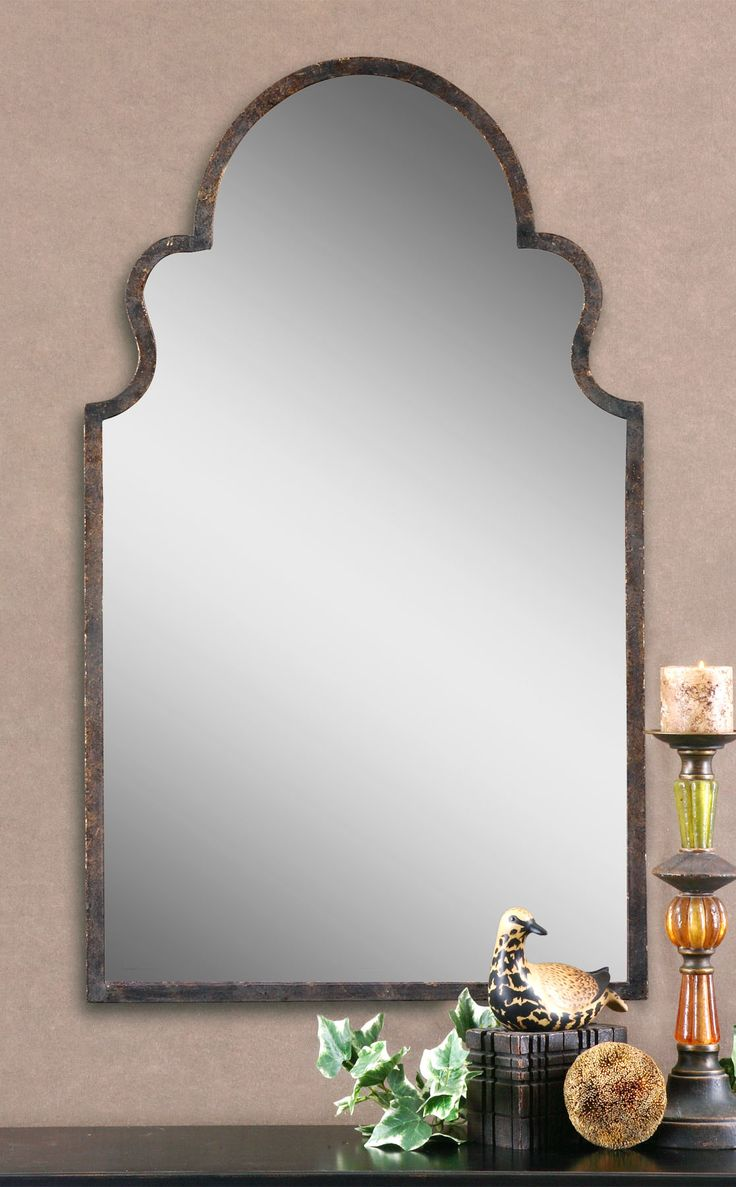 34 best mirrors images on pinterest forging metal gold mirrors brayden arch this shaped mirror features a hand forged metal frame finished in lightly textured amipublicfo Gallery