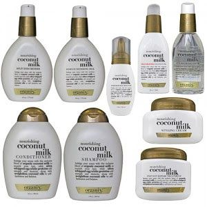 Organix hair products - love them all but coconut is my favorite, makes my hair grow like crazy