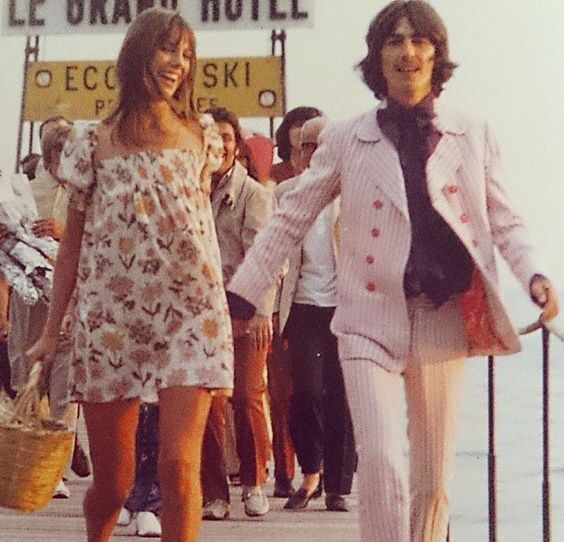 Jane Birkin and George Harrison 1968
