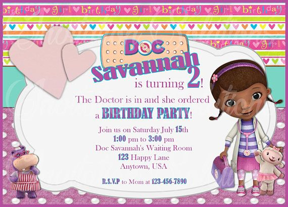 98 best birthday invitations images on pinterest doc mcstuffins and friend birthday party invitation the doc filmwisefo