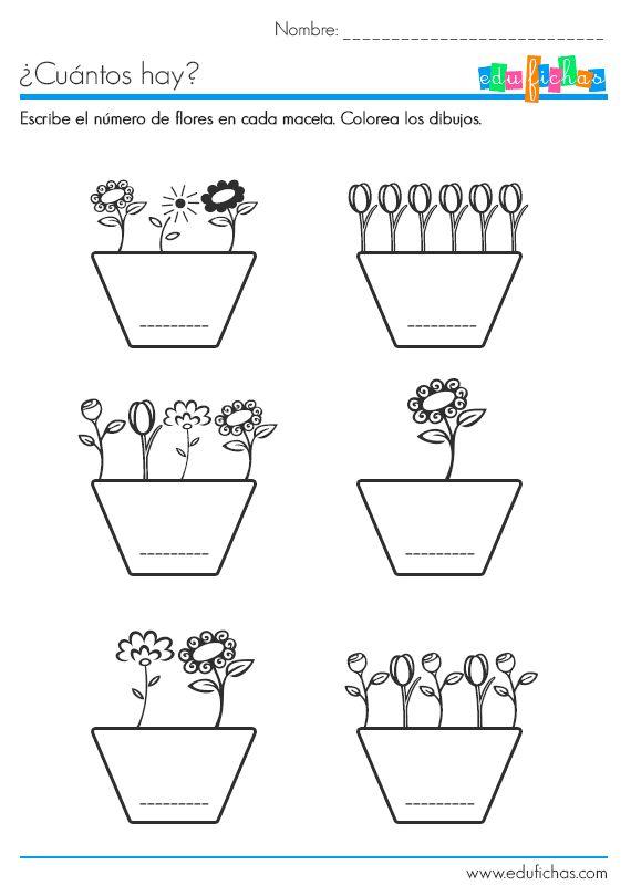 Aprender a contar: http://www.edufichas.com/actividades/recursos-educativos/cuantos-hay/ejercicio-para-aprender-contar/  #preescolar, #fichaseducativas, #niños