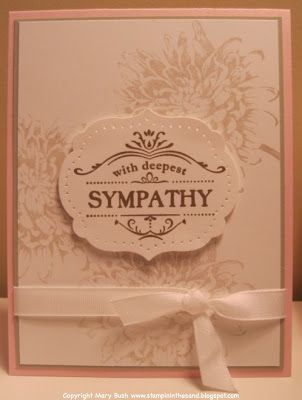 Stampin' Up!'s Thanks for Caring and Blooming with Kindness stamp sets combine for a lovely sympathy card