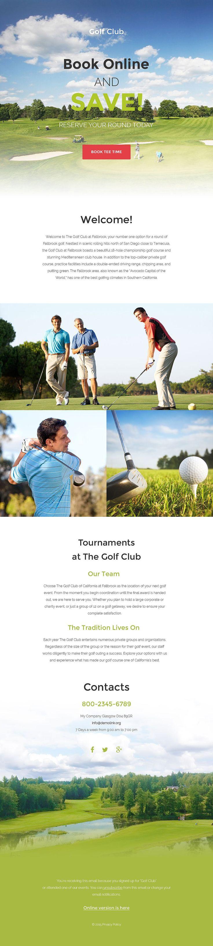 7 best newsletter templatesthemes images on pinterest golf responsive newsletter template pronofoot35fo Gallery