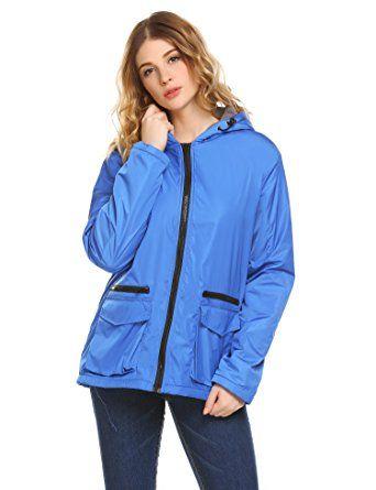 Unibelle Women's Hooded Fleece Waterproof Parka Outdoor Windproof Jacket, Royal Blue M Review